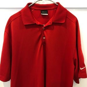 Nike Golf Red polo T-shirt with FitDRY size L